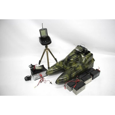 Powercatcher camouflage | voerboot + fish finder + accessoires