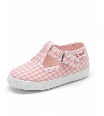 Cienta (vh Fitz Kitz) t-band checkered pink