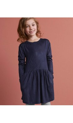 Rosemunde dress teardrop print navy
