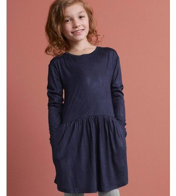 Rosemunde dress teardrop print navy
