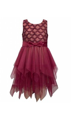 Bonnie Jean party dress burgundy