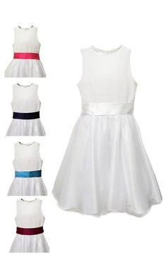 Meisjesfeest Simple but chic dress white