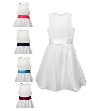 Meisjesfeest Simple but chic dress white