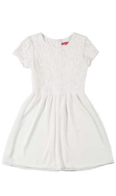 Derhy Kids Santa dress lace white