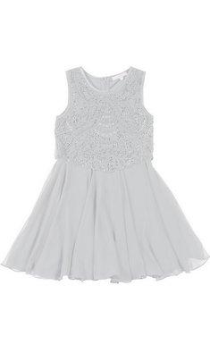 Derhy Kids Stella dress beads white