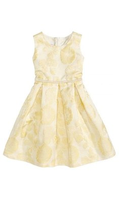 Bonnie Jean Sienna dress jacquard yellow