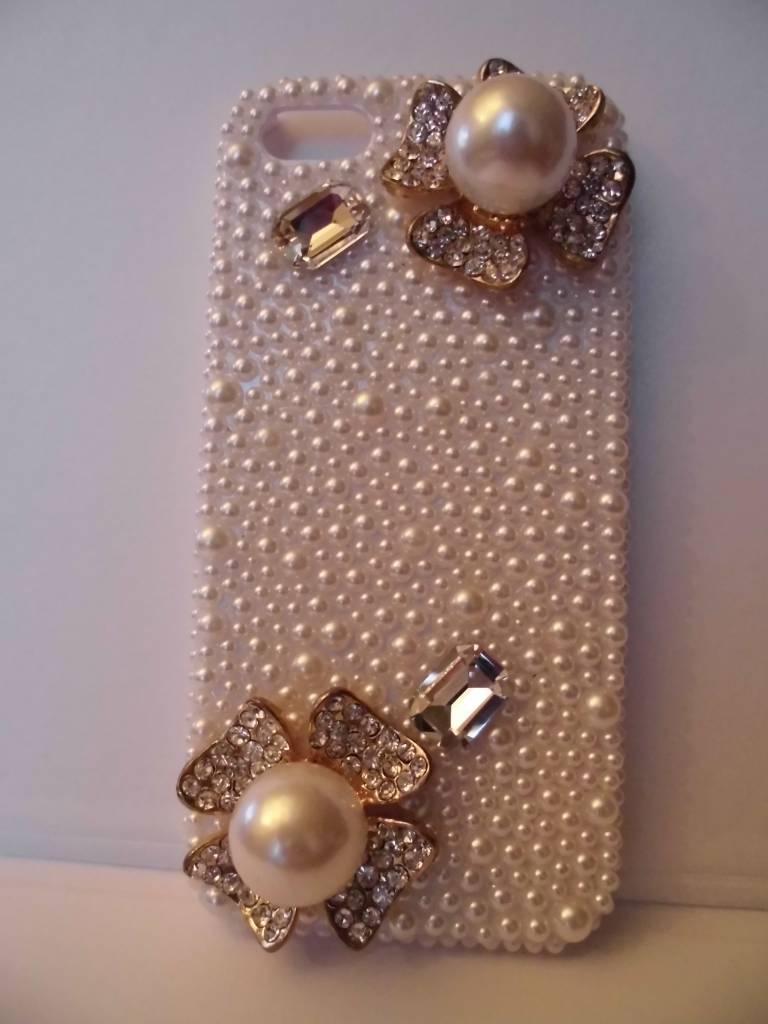 Iphone 5 case met twee parels