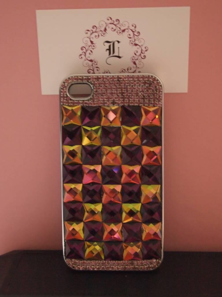 Gekleurde kristallen Iphone 4 case