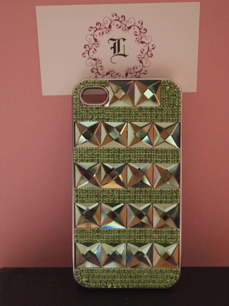 Iphone 4 case met gekleurde kristallen