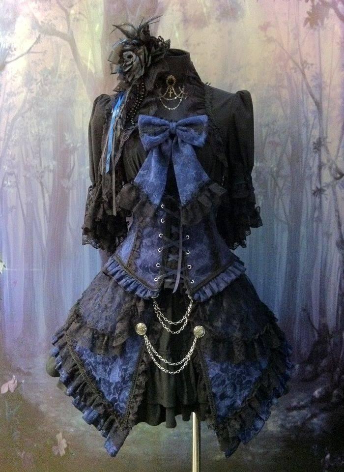 Lolita blauw/zwart pakje