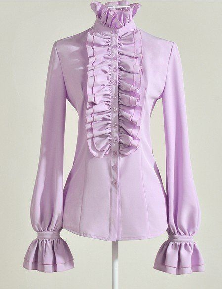 Lolita paarse blouse met lange mouwen