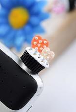 Kristallen stofkapje voor mobiele telefoon