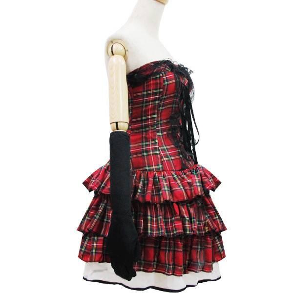 Mooie,rood geruite Schotse jurk