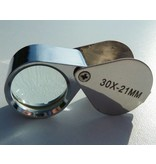 30x Just magnifier loupe, 30 x 21mm 30x magnification