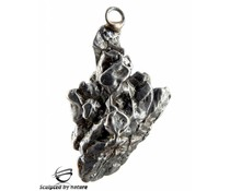 Sculpted by nature, meteorite pendant