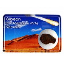 Gibeon meteorite in display box
