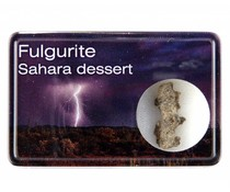 Fulgurite in a display box