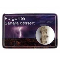 Fulgurite in a display box