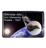 Sikhote-Alin ijzermeteoriet in cadeaudoosje