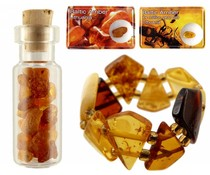Baltic amber in various forms