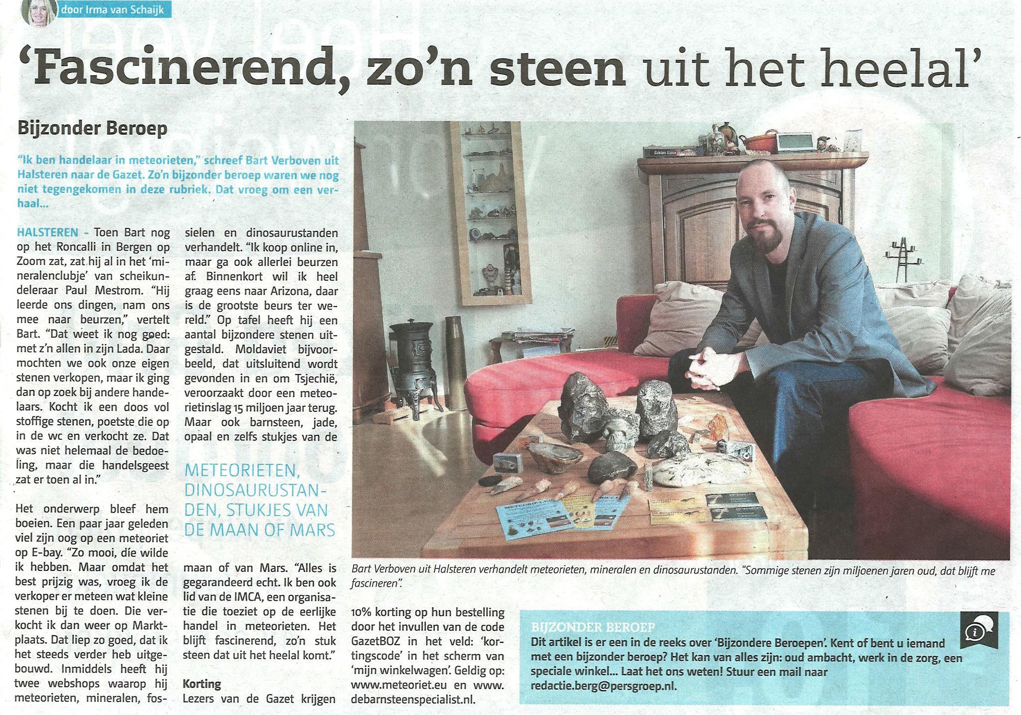 Gazet Bergen op Zoom Bart Verboven