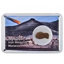 Agoudal meteorite in collectorsbox