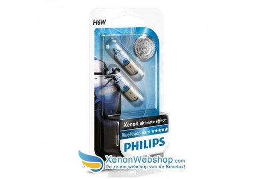 Philips 12036BVB2 H6W BAX9S Blue Vision