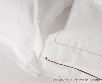 "Libeco dekbedovertrek ""Classics"" Geneva White"