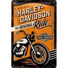 Nostalgic Art Tin Sign Harley Davidson Ride 20x30