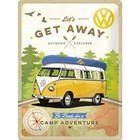 Nostalgic Art Tin Sign VW Bulli Get Away 30x40