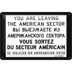 Nostalgic Art Tin Sign American Sector 30x20