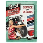 Nostalgic Art Tin Sign Best Garage Green 30x40