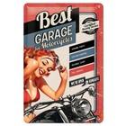 Nostalgic Art Tin Sign Best Garage Red 20x30