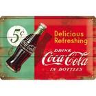 Nostalgic Art Tin Sign Coca Cola refreshing bottle 20x30