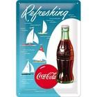 Nostalgic Art Tin Sign Coca-Cola - Bottle Hero Poster - Sailing Boats 20x30