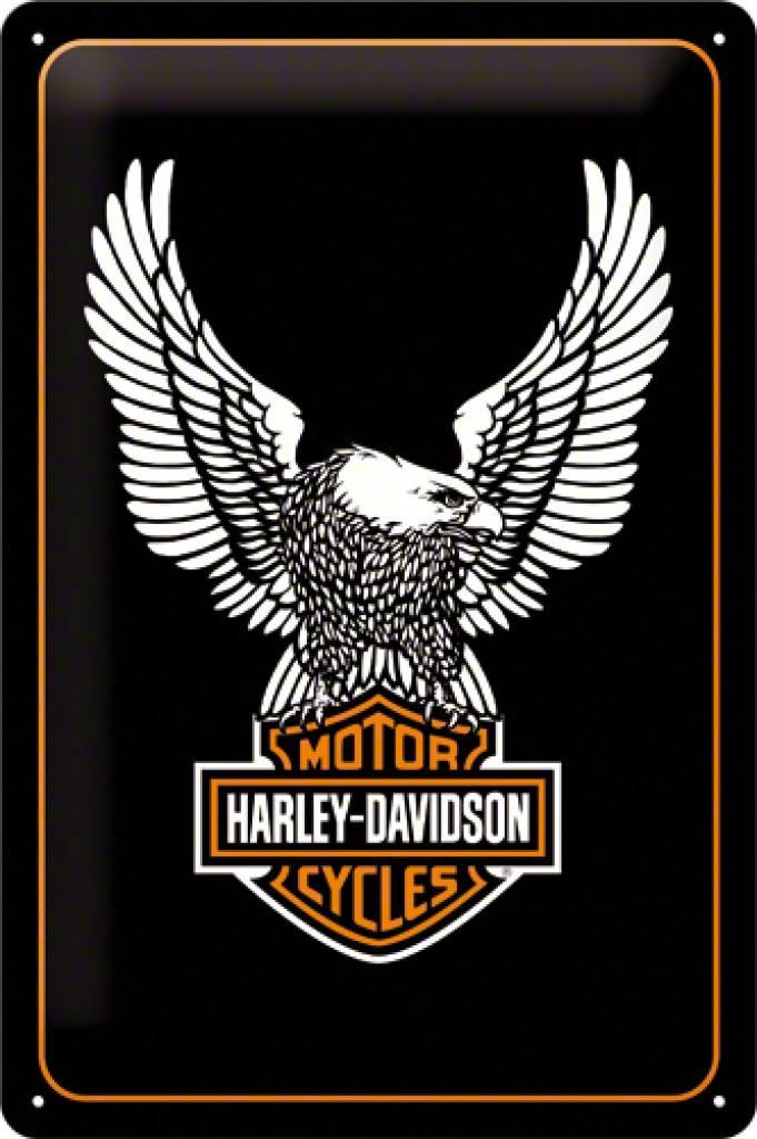 nostalgic art tin sign harley davidson eagle 20x30 - shop america