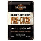 Nostalgic Art Tin Sign Harley Davidson Motorcycle Oil 20x30
