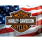 Nostalgic Art Tin Sign Harley Davidson Motorcycles USA flag 40x30