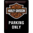 Nostalgic Art Tin Sign Harley Davidson Parking Only 30x40