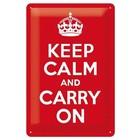 Nostalgic Art Tin Sign Keep calm and carry on 20x30