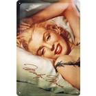 Nostalgic Art Tin Sign Marilyn Monroe Bed 20x30