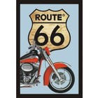 Printed Mirror Route 66 Red Motor