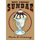 Tin Sign Hot Fudge Sundae 30x40