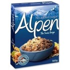 Alpen No Added Sugar Swiss Style Muesli 500 grams