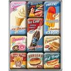 Nostalgic Art Magnet Set American Diner 9x