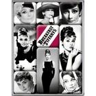 Nostalgic Art Magnet Set Audrey Hepburn 9x