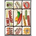 Nostalgic Art Magnet Set Chili Peppers 9x