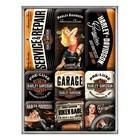 Nostalgic Art Magnet Set Harley Davidson Babes 9x