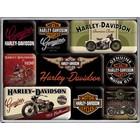 Nostalgic Art Magnet Set Harley Davidson Motorcycles 9x