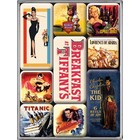 Nostalgic Art Magnet Set Hollywood Movie Art 9x